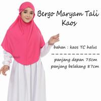 Jilbab Bergo Instan Maryam Tali Bahan Kaos TC - MIX