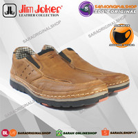 Jim Joker Horse 03 Slip On – Sepatu Kulit Asli - Original
