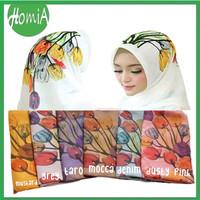 Jilbab Hijab Kerudung Segi Empat Bella Square Motif Bunga-Bunga