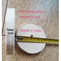 Kain Poles Katun 4inchi x 1cm