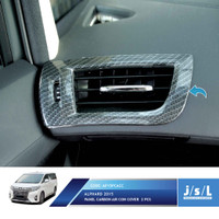 JSL Cover Lis AC Krom All New Alphard Air Cond Cover Carbon