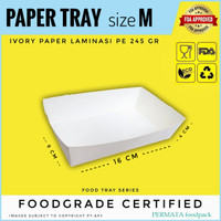 FOOD TRAY / PAPER TRAY / OPEN TRAY / NAMPAN KERTAS size M
