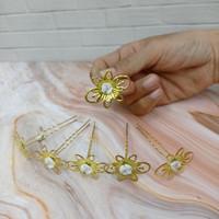 Tusuk konde Gold isi 6 motif Bunga