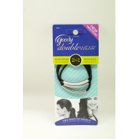 Goody DoubleWear 03957/ 96286 wave textured elastics 3ct ikat rambut
