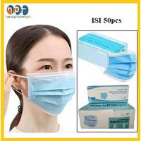 Masker 3 ply 50pcs Non MedicalMasker 3Ply Disposable Protective Mask