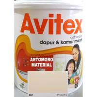 Cat Tembok 5 Kg Avitex Anti Uap Panas dan Jamur Krem Cream (Peachy 02)