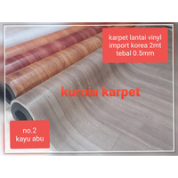Karpet lantai Vinyl plastik Korea 200Cm (2meter) tebal 0.5mm
