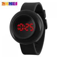 Jam Tangan Digital LED SKMEI Push 1138 Strap Silikon Original WR 3ATM - Hitam