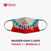 Masker Kain 3 ply Earloop - Desain oleh Home Credit x Kathrin Honesta
