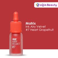 Peripera Ink Airy Velvet #7 Heart Grapefruit / Lip Tint / Lip Color