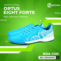 Sepatu Futsal Ortuseight Catalyst Cypher IN - Pale Cyan/White