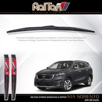 "Raiton Sepasang Wiper Hybrid Kaca Depan Kia Sorento 24"" & 20"""