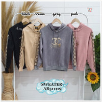 AB511119 CHANNEL Sweater Hoodie Sweatshirt Wanita Korea Import