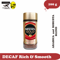NESCAFE GOLD DECAF Rich & Smooth - Arabica and Robusta Blend 100g