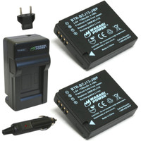 Wasabi Power for Panasonic DMW-BCJ13 BCJ13E DMC LX5 LX55 LX5K LX5W LX7 - Paket 2 Baterai