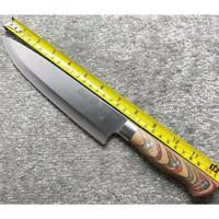 Pisau Dapur Koch Messer (Stenless Steel) / Handle Kayu / XIF - Pisau 30cm