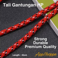 Handphone Strap Tali Gantungan HP Adjustable Braided 45cm LANYARD