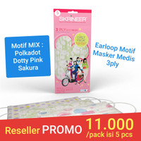 Masker Skrineer Girly Pack Earloop 3ply isi 5 pcs Original