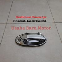 Handle Handel Pintu Luar Chrome 1pc Mitsubishi Lancer Evo 3 CB