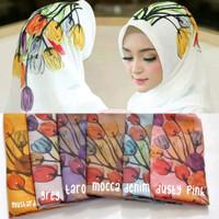 Hijab Jilbab Kerudung Segi Empat Bella Square Motif Bunga Diamond