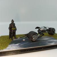 Batpod Motor skala hotwheels 1:64 resin art + batman dan mini diorama