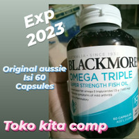 BLACKMORES OMEGA TRIPLE SUPER STRAIGHT FISH OIL 60 CAPSULES