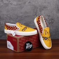 Sepatu Vans Slip On X Ralph Steadman Gonzovat Yellow Orange DT BNIB