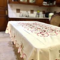 Taplak meja makan bordir 150x225