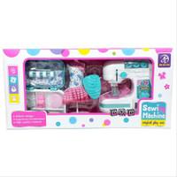 Mainan Sewing Machine Mesin Jahit Besar plus Baju dan Kotak accessoris