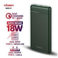 Vivan Powerbank 10000 mAh 18W Type C QC3.0 PD Fast Charging VPB-M10