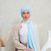 Hijab Pashmina Ombre Crinkle Chiffon Premium Safaa SKY - Yucca Modest