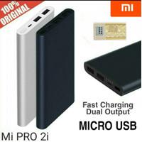 Power Bank Xiaomi Mi Pro 2i / 2S 10000 mAh 2 Usb Fast Charging PLM09ZM - Navi