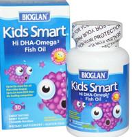 Bioglan Kids Smart Hi DHA Omega 3 Fish Oil 500mg / DHA kids 30chewable