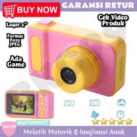 E73 Mainan Anak Perempuan Camera Kamera Foto Hadiah Kado Anak Murah - Merah Muda