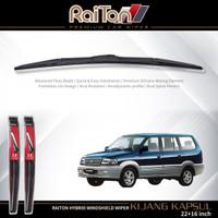 "Raiton Sepasang Wiper Hybrid Kaca Depan Mobil Kijang Kapsul 20"" & 18"""