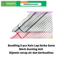 Bundling 5 pcs Kain Lap Serbet Serba Guna / Lap Dapur Kualitas Super