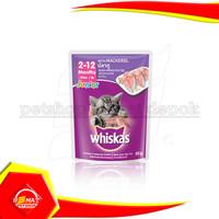 Makanan basah Kucing whiskas junior pouch 85 gr cat wet food sachet - MACKEREL