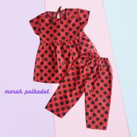 Baju Rumah Home set Anak Perempuan Katun Celana Panjang 1-5 tahun