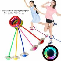 Mainan yoyo Kaki flash jumping skiping ball Hulahup kaki lampu nyala
