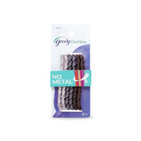Goody ouchless elastics, 4mm large metallic twisted ribbon, asst 05776