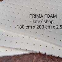 BUSA LATEX PREMIUM TOPPER KASUR,JOK MOBIL,SOFA 180 CM X 200 CM X2,5 CM