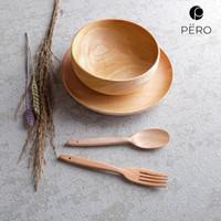 PERO WOODEN DINNER SET OF 3