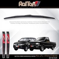 """Raiton Sepasang Wiper Hybrid Kaca Depan Mobil Isuzu Panther 22""""&16"""""""