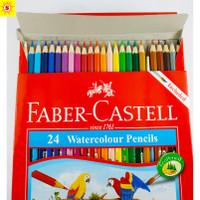 Pensil warna Water Color Faber Castell 24 (Bonus Kuas) Asli Original