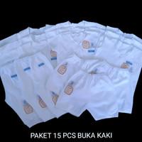 15 PCS PAKET MURAH BAJU BAYI BARU LAHIR (NEWBORN) PUTIH POLOS JINGLE