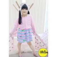 Dress Cardigan Anak Perempuan Flowkids Light Pink - 6
