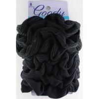 Goody ouchless 37027 scrunchie black 8ct kunciran rambut