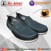 Sepatu Jim Joker Pluto 02 Slip On - Sepatu Kulit Asli - Original