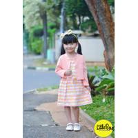 Dress Cardigan Anak Perempuan Flowkids Peach - 8