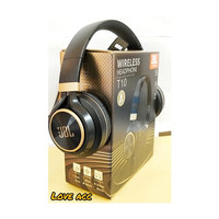 Headphone WIRELESS JBL T10 BY HARMAN SUPERBASS - Hitam